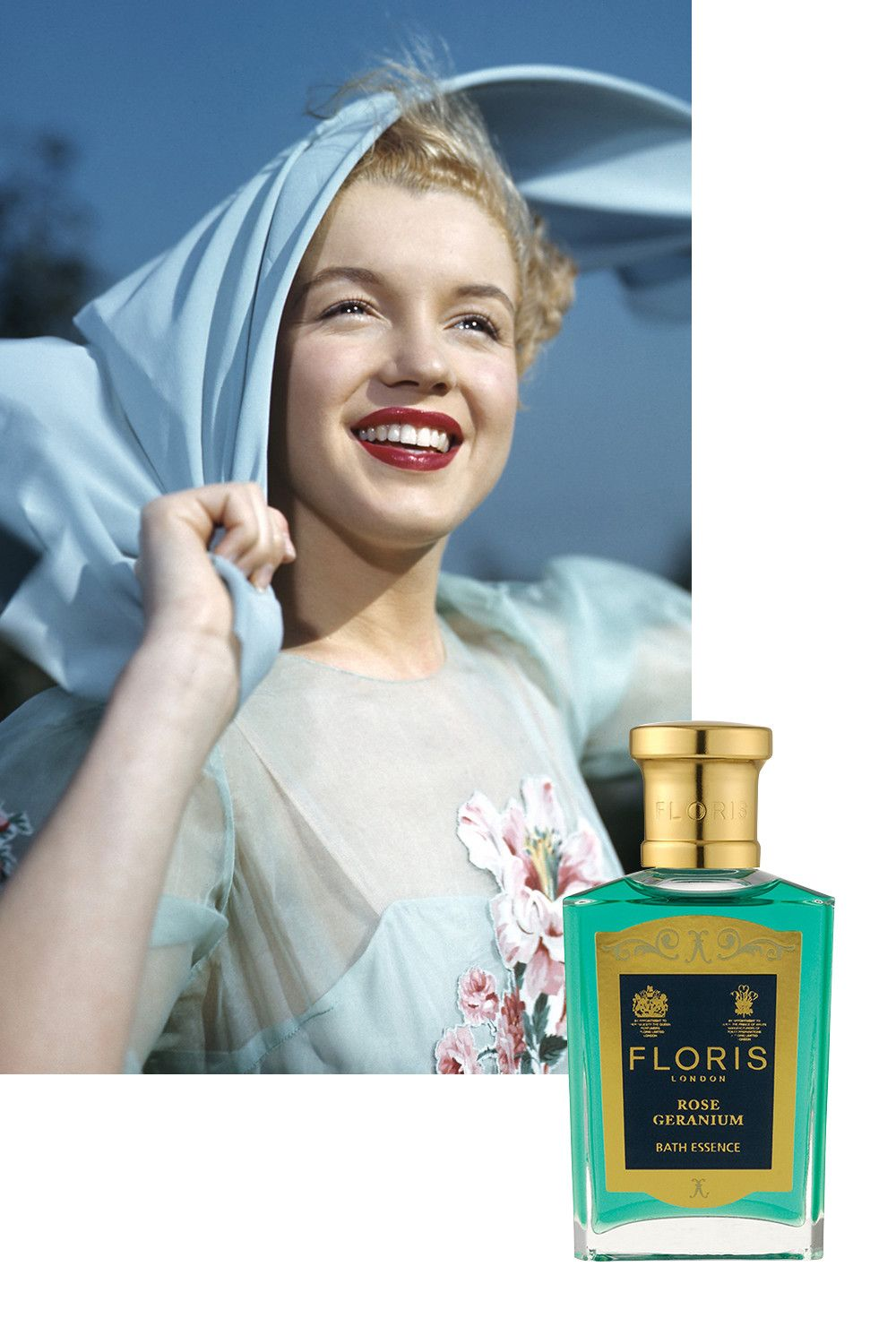 "<p>Like millions of other women, Monroe was a fan of Chanel No 5. However, in 2002, it was revealed that she also had a secret penchant for Floris Rose Geranium. The eau de toilette was delivered in bulk to her at the Beverly Hills Hotel under a cloak and dagger alias while she filmed <i data-redactor-tag=""i"">Some Like It Hot</i>. Featuring notes of rose, geranium, citronella and sandalwood, the British eau de toilette has been discontinued and its scent is now only available as a bath essence.</p>"