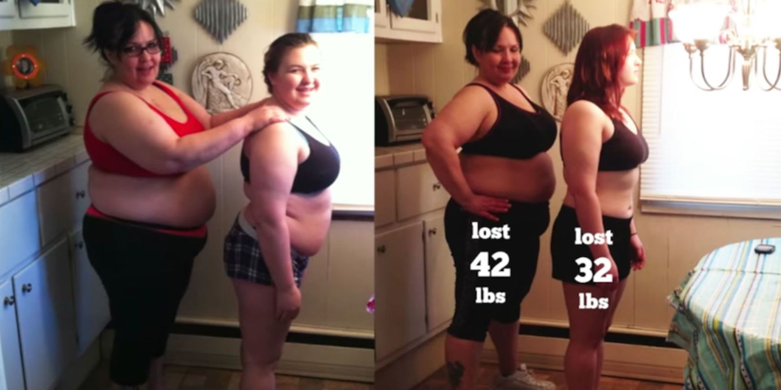 This Adorable Mother-Daughter Duo Is Going Viral for Their Incredible Weight-Loss Journey