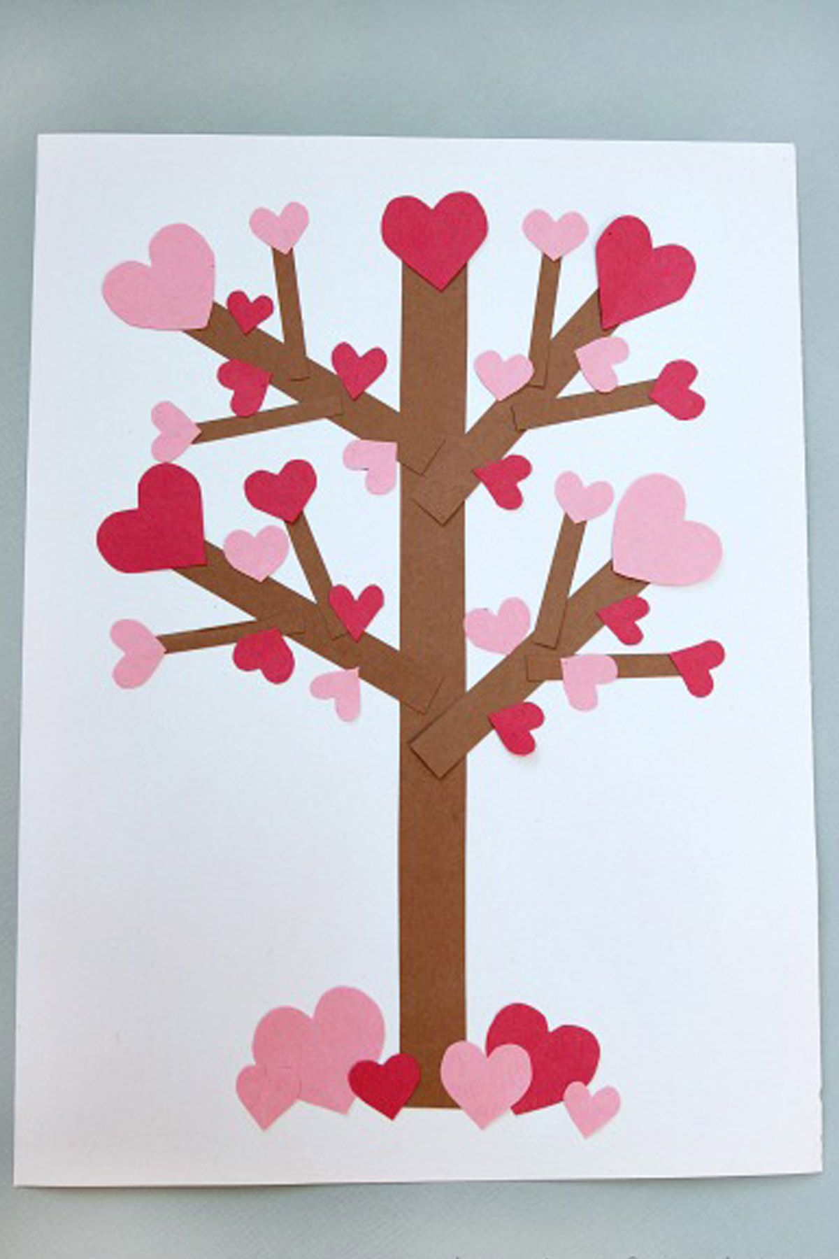 Flowering Heart Tree Valentines Day Crafts For Kids