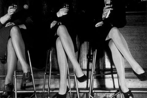 Leg, Black-and-white, Monochrome, Human leg, Footwear, Fashion, Human body, Dress, High heels, Photography,