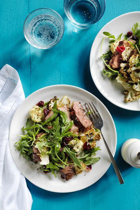 hearty salad recipes - Steak Salad with Honey Lemon Vinaigrette