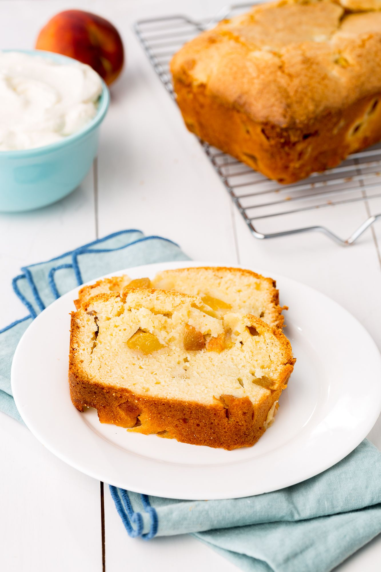Peaches & Cream Pound Cake
