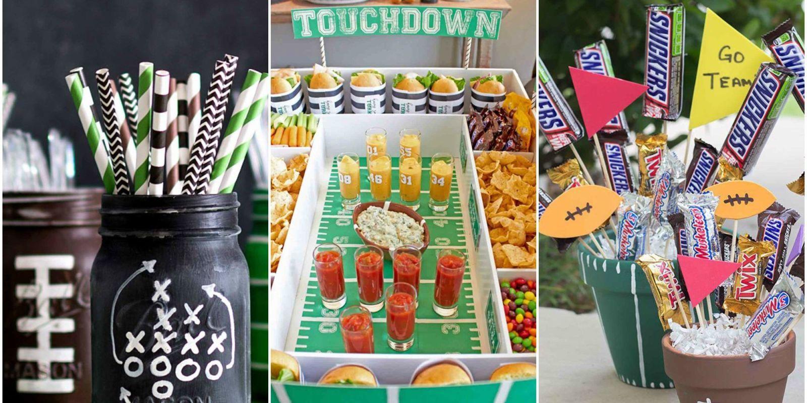 12 diy football decorations for a super bowl party decorating rh womansday com football birthday party decoration ideas football birthday party decoration ideas