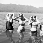 Water, People in nature, Summer, Vacation, Lake, Waist, Holiday, Lake district, Loch, Reservoir,
