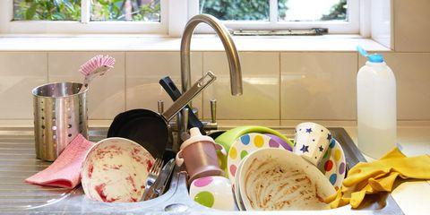 Plumbing fixture, Room, Tap, Bowl, Kitchen utensil, Tableware, Meal, Cuisine, Ingredient, Kitchen,