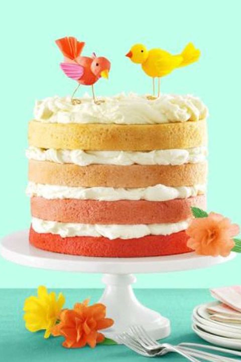 pink ombre cake- easter cakes