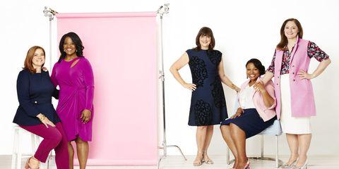 Leg, Sleeve, Shoulder, Dress, Joint, Standing, Formal wear, Magenta, Pink, Purple,