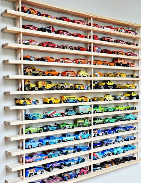 organize toy cars