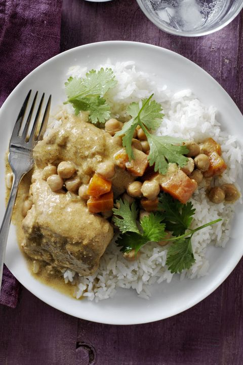 easy chicken dinner recipes - Coconut Curry Chicken and Chickpeas