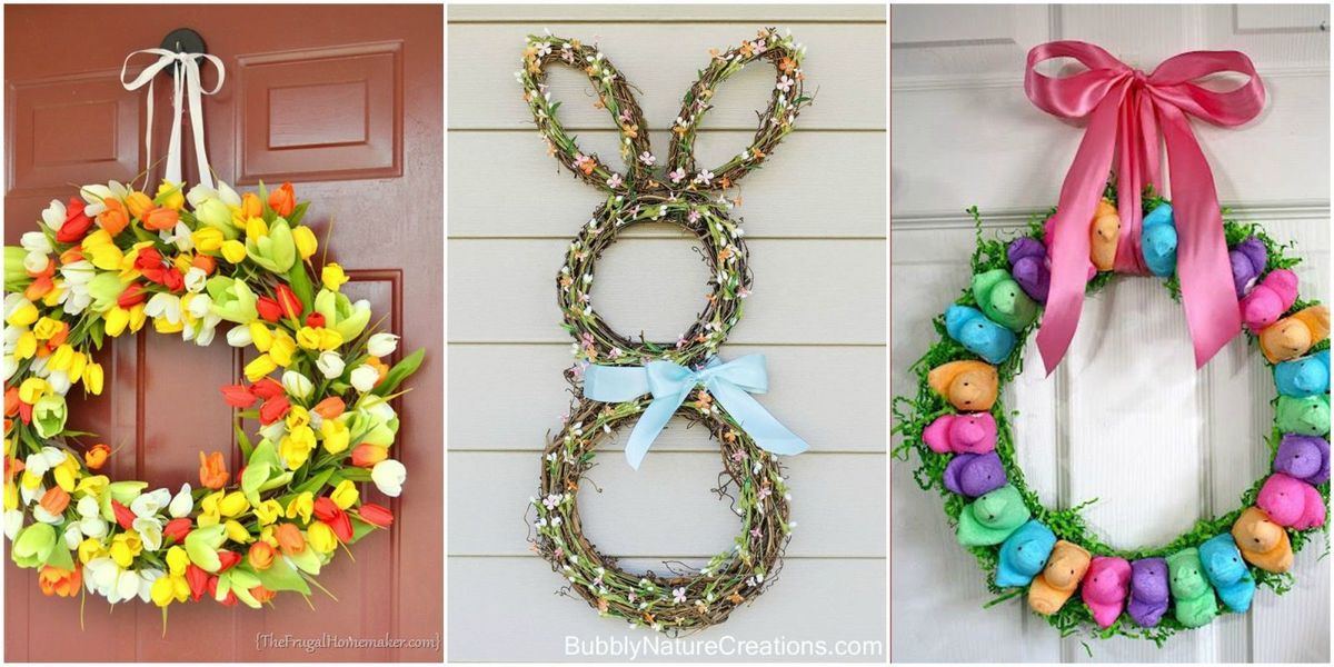 simple spring craft ideas 13 diy easter wreaths to make easter door 5432
