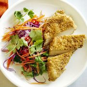 easy chicken dinner recipes -Sesame Chicken and Chili Lime Slaw