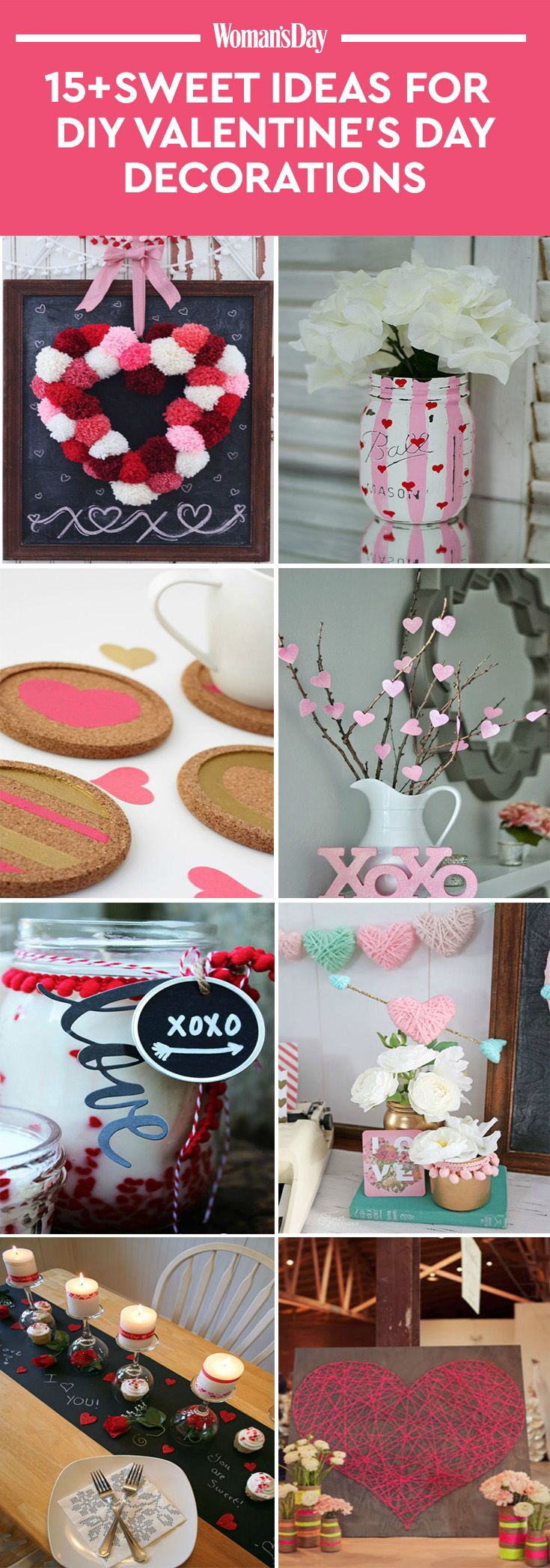 23 Diy Valentines Day Decorations Easy Valentines Day Decor Ideas