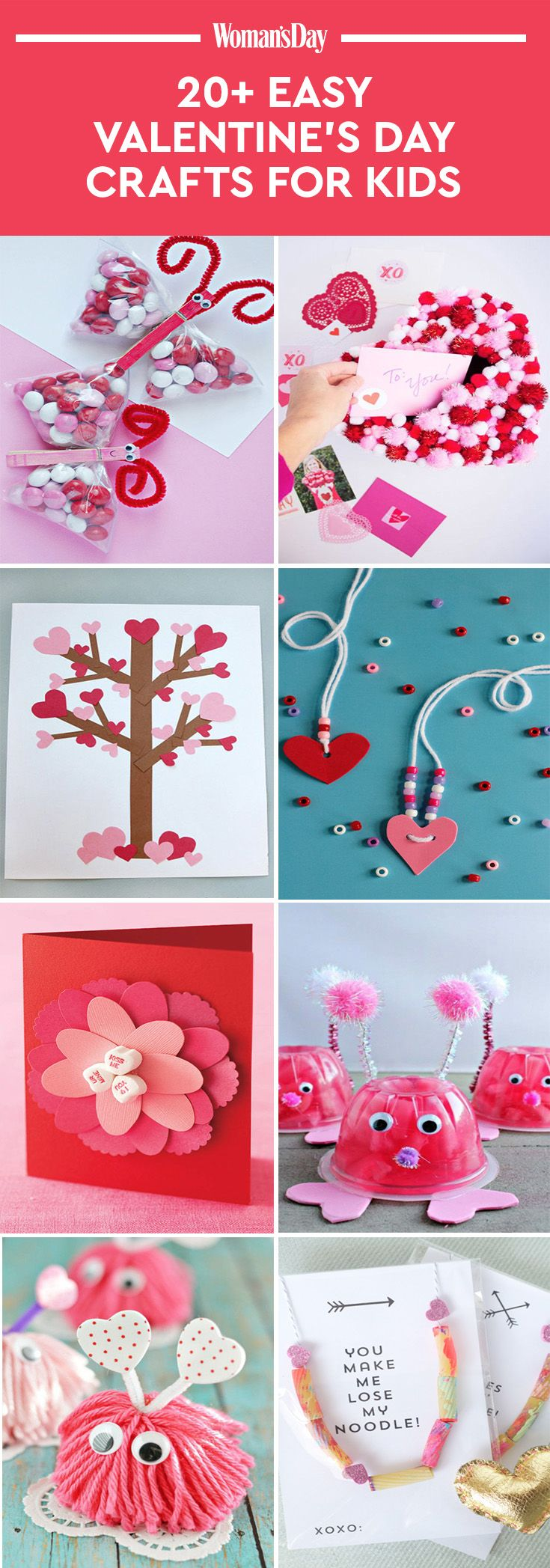 Valentines Day Craft Ideas For Kids Part - 29: 22 Valentineu0027s Day Crafts For Kids - Fun Heart Arts And Crafts Projects For  Toddlers And Kids
