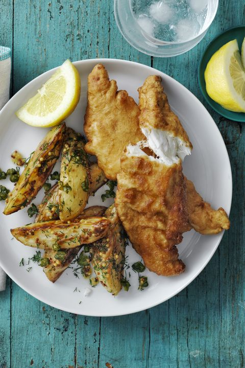 Beer-Battered Cod and Roasted Potato Salad 30-Minute Meal