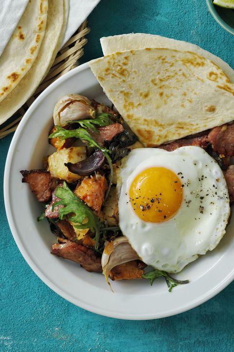 Light Dinner IdeasRoasted Poblano Potato and Ham Hash