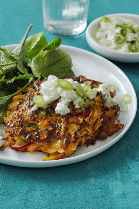 light Dinner Ideas - Spiced Carrot Fritters