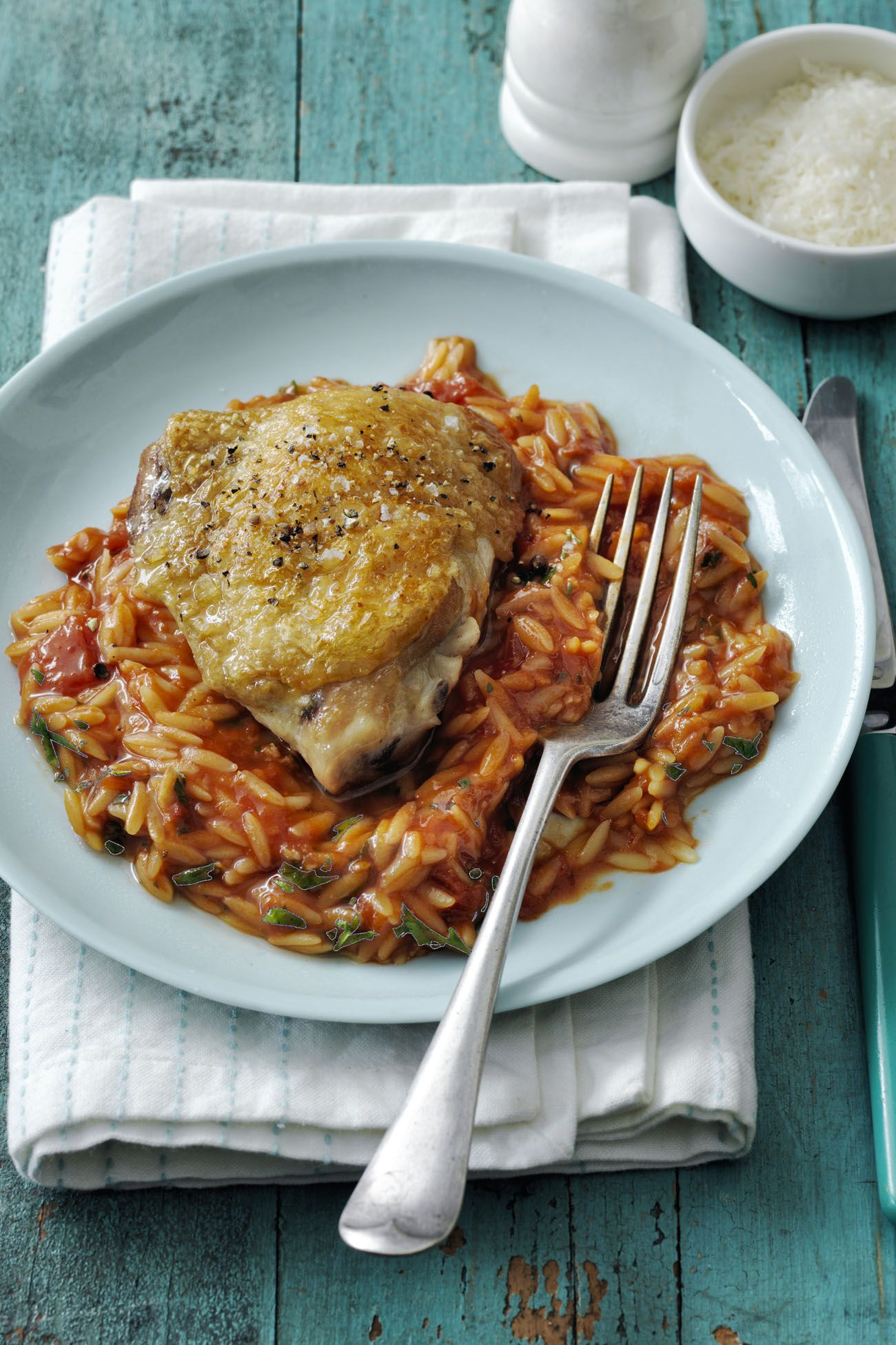 Skillet Chicken and Orzo