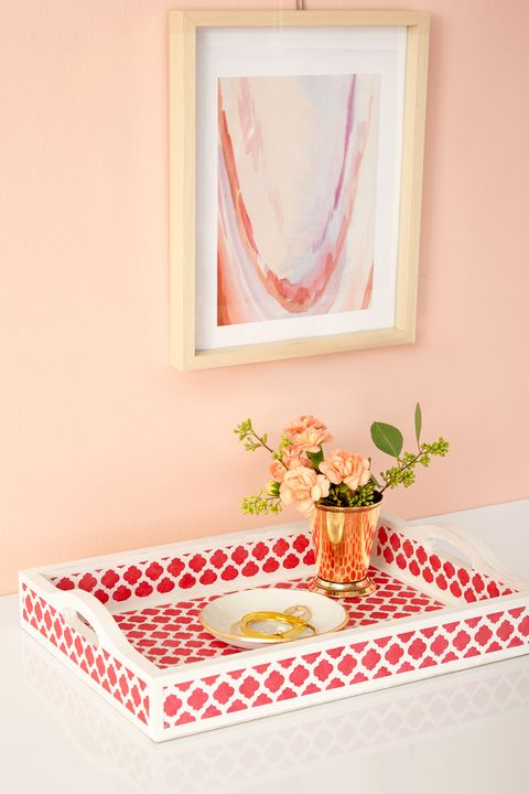 Pink, Room, Table, Furniture, Interior design, Textile, Tableware, Plant, Still life photography, Peach,
