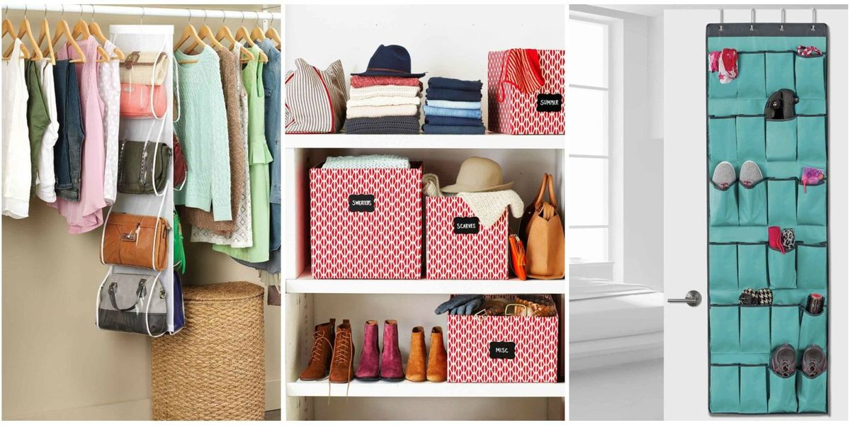 24 best closet organization storage ideas how to organize your closet. Black Bedroom Furniture Sets. Home Design Ideas