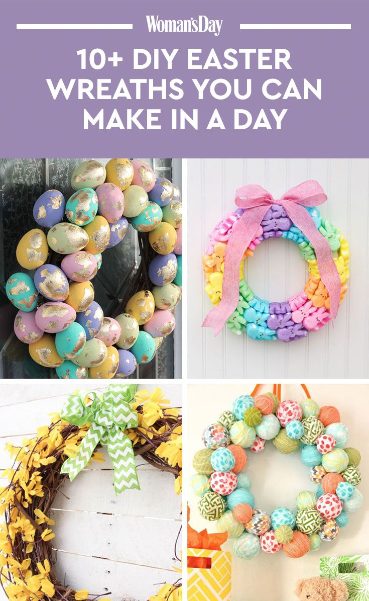 14 diy easter wreaths to make this spring homemade easter door wreath crafts - Easter Wreaths