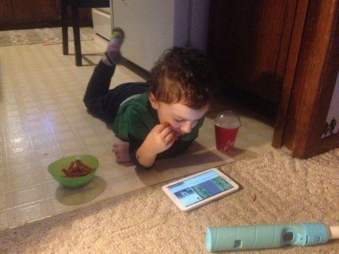Child, Play, Floor, Flooring, Toddler, Wood, Square,