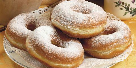 Dish, Food, Cuisine, Powdered sugar, Dessert, Baked goods, Ingredient, Cider doughnut, Pączki, Ciambella,