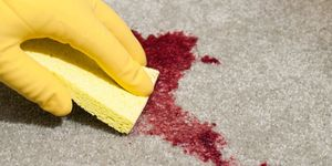 how to treat blood stain on carpet