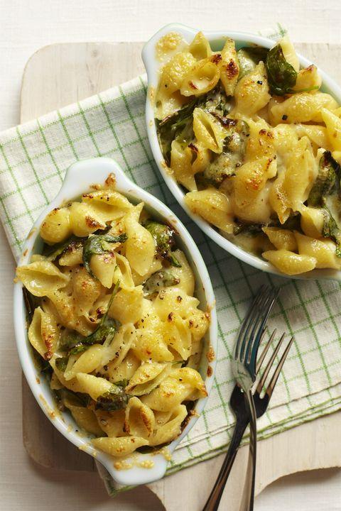 pasta recipes cheesy shells and greens