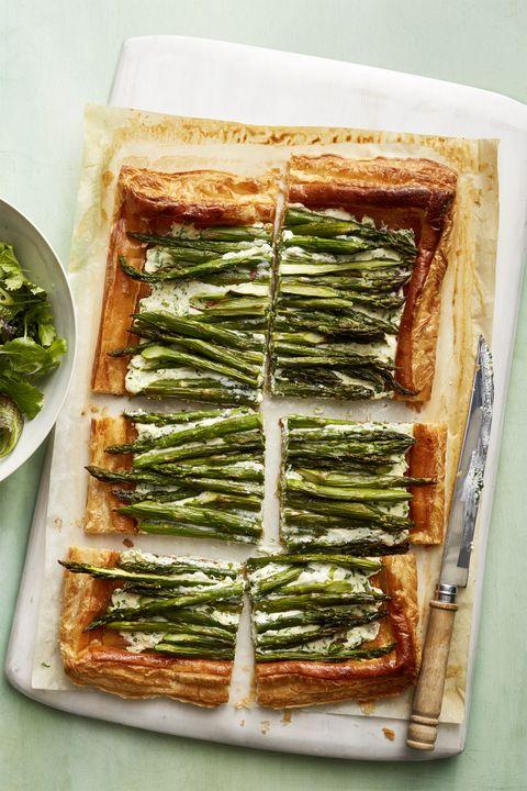 Vegetarian Meals Asparagus Ricotta Tart