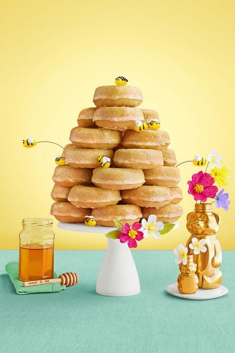 glazed honey doughnut beehive - easter desserts