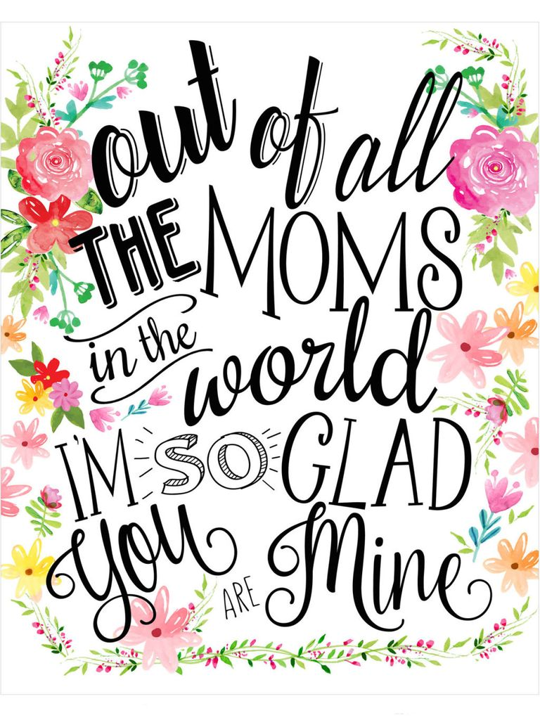 It is a graphic of Vibrant Mothers Day Print Out