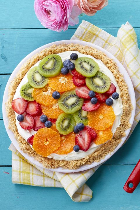 no bake desserts- Fresh Fruit Cheesecake Pie