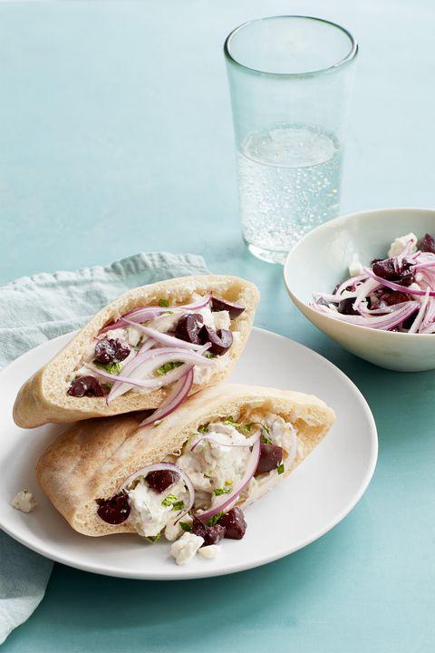 family dinner ideas  mediterranean chicken salad sandwiches