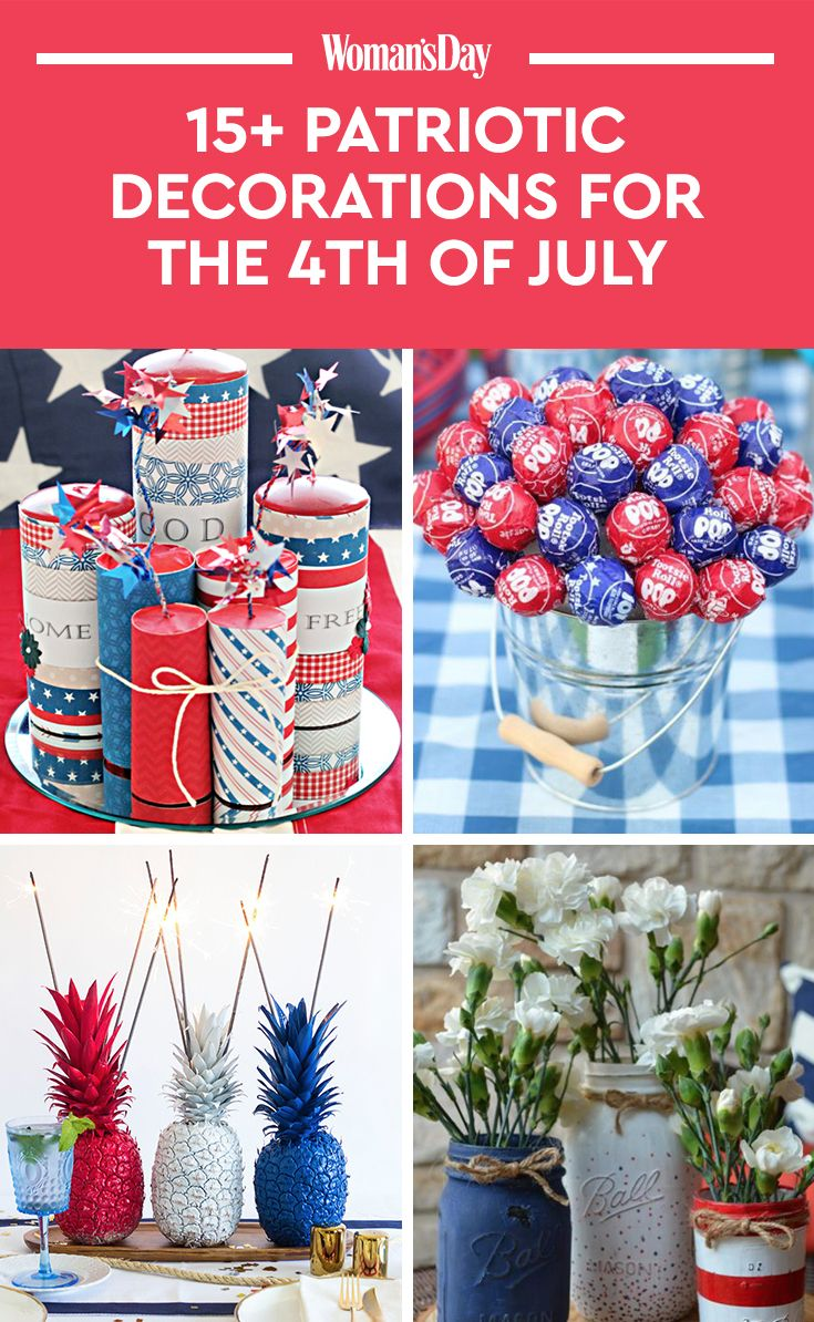 Patriotic Decorations Part - 37: 17 Best 4th Of July Decorations - Patriotic Decorating Ideas For Fourth Of  July
