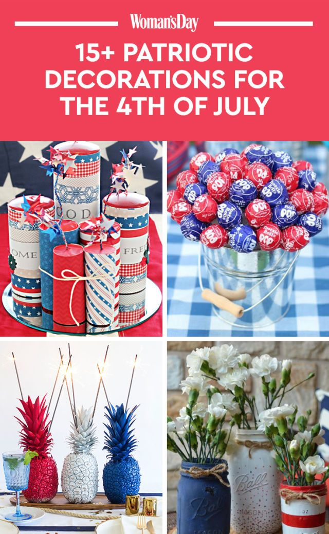 17 best 4th of july decorations patriotic decorating for Patriotic decorations for home