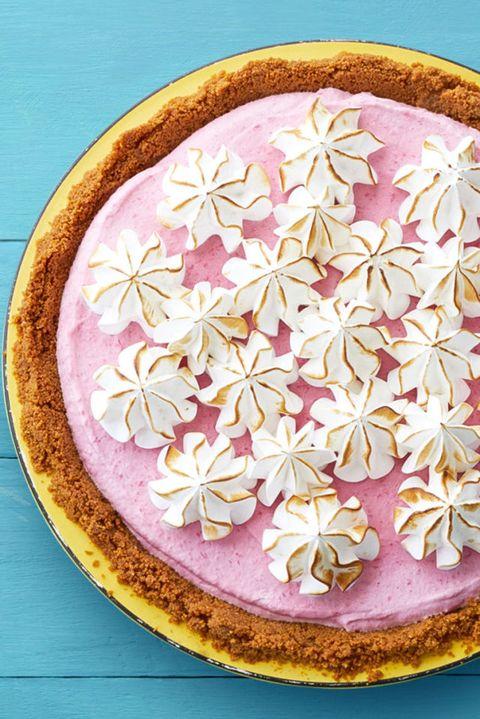 4th of july desserts  frozen raspberry meringue pie