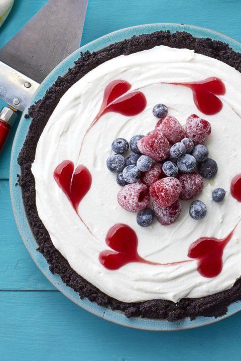 Coconut Cream and Raspberry Jam Pie No-Bake Dessert
