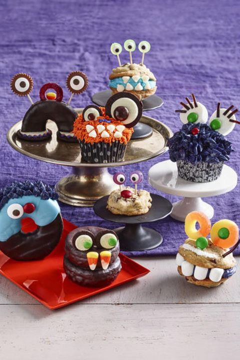 halloween cupcakes  mixed up monsters