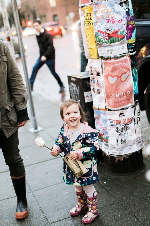 Photograph, Street fashion, People, Snapshot, Fashion, Street, Pink, Pedestrian, Human, Infrastructure,