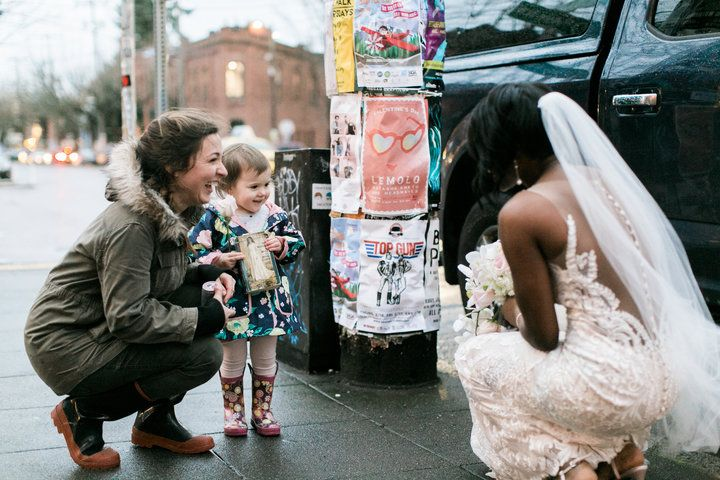 A Little Girl Thought This Bride Was the Real-Life Princess from Her Favorite Book