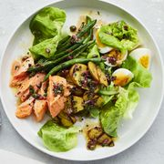 hearty salad recipes   salmon niçoise salad