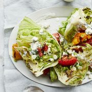 hearty salad recipes - wedges with bacon tomatoes and buttermilk dressing