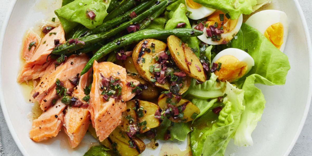 Best Salmon Nicoise Salad Recipe How To Make Salmon Nicoise Salad
