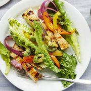 hearty saladrecipes -- Chicken Fajita Salad with Lime-Cilantro Vinaigrette