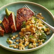 easy chicken dinner recipes -smoky chicken with charred corn salad