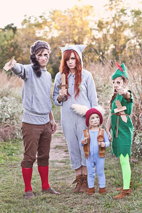 peter pan and the lost boys family halloween costumes