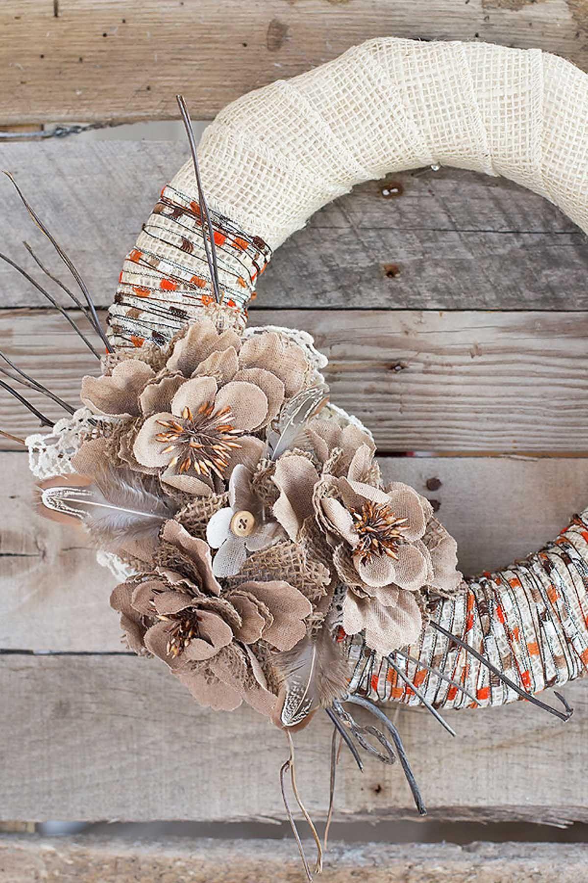 22 Diy Fall Wreaths Easy Ideas For Autumn Wreaths