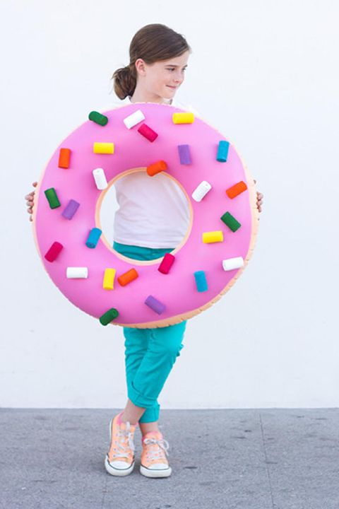 donuthomemade halloween costumes for kids