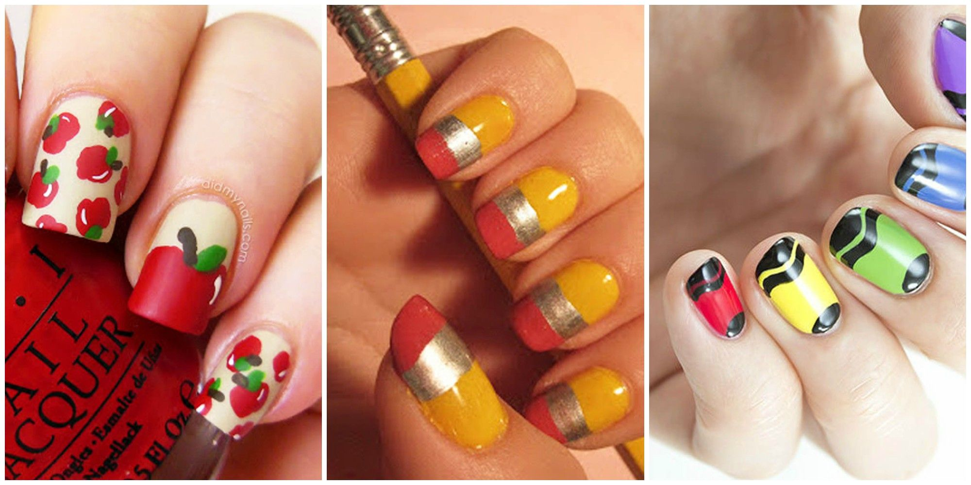10 Cute Back To School Nails Best Nail Art Design Ideas For School