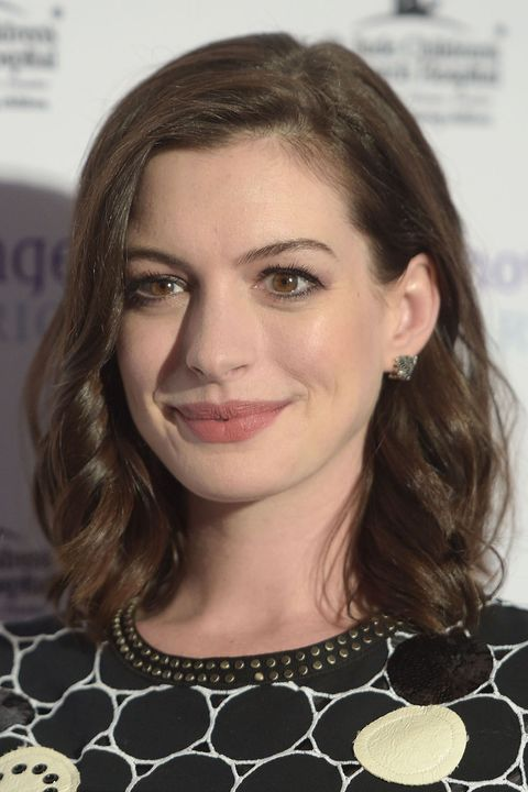Anne Hathaway Medium Length Celebrity Hairstyles
